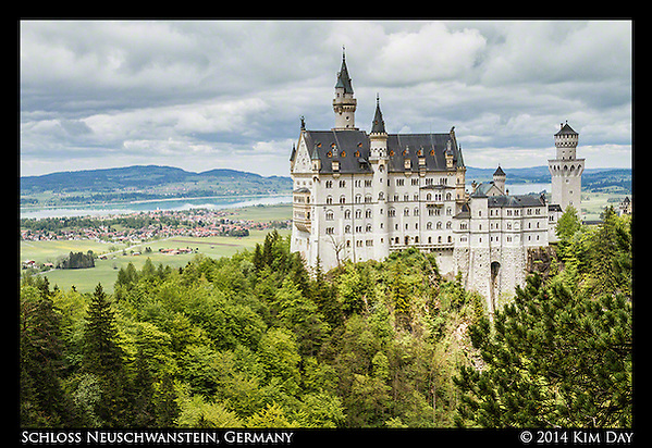 Schloss Neuschwanstein from Marienbrücke Bridge Germany May 2014 (Kim Day)