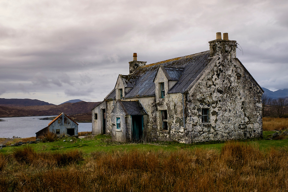 LEWIS AND HARRIS, SCOTLAND - CIRCA APRIL 2016: Abandoned House in the outer islands of Lewis and Harris in Scotland.. (Daniel Korzeniewski)
