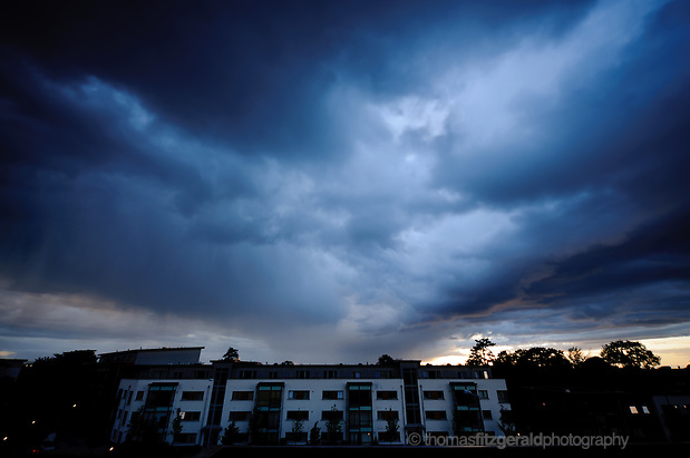 A Storm Brews over Some Buildings in the Dublin Sky (© Thomas Fitzgerald 2011)