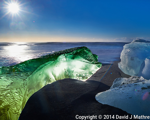 Alien Green Turtle Coming Ashore on a Black Sand Beach near Jökulsárlón Lagoon in Southeast Iceland. Image taken with a Nikon Df camera and 24 mm f/1.4G lens + Singh-Ray 10 stop neutral density filter (ISO 100, 24 mm, f/16, 13 sec). (David J Mathre)