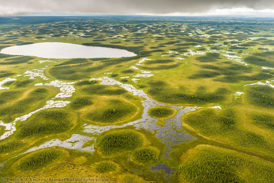 Tundra wetland geological features, southcentral Alaska, west of cook inlet. (Patrick J. Endres / AlaskaPhotoGraphics.com)