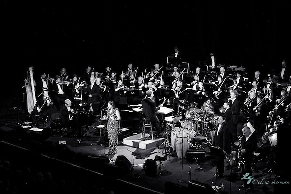 Pink Martini perform with the  the Seattle Symphony December 3rd, 2011, at their Holiday Show at the Paramount Theatre in Seattle, Washington (Elisa Sherman)