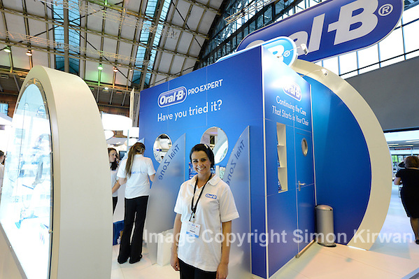 Oral-B stand, British Dental Conference & Exhibition 2012, MCCC. Photo by Simon Kirwan