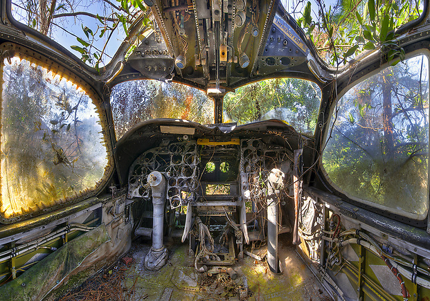 The Abandoned Airplane Graveyard formerly located in St. Augustine, FL. (Walter Arnold)