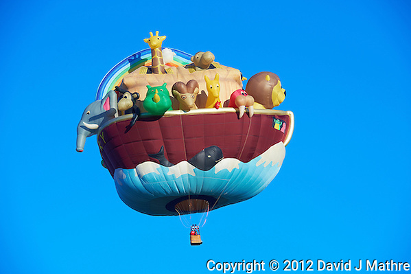 Noah's Ark. Albuquerque 2012 Balloon Fiesta Final Day. Nikonians ANPAT 12. Image taken with a Nikon D4 and 70-200 mm f/2.8 VRII lens (ISO 100, 155 mm, f/7.1, 1/200 sec). (David J Mathre)