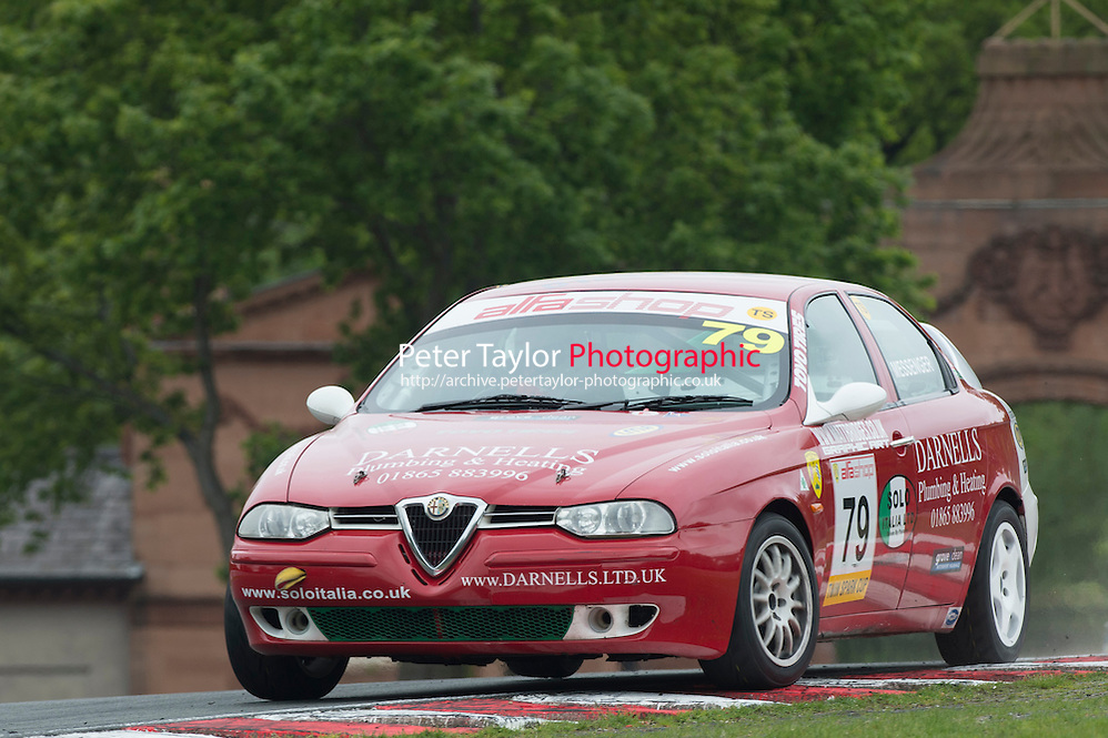 #79 David Messenger, Alfa Romeo 156 during BRSCC Alfashop Alfa Romeo Championship as part of the BRSCC Club Car Championships at Oulton Park, Little Budworth, Cheshire, . May 23 2015. World Copyright Peter Taylor/PSP. Copy of publication required for printed pictures.  Every used picture is fee-liable. http://archive.petertaylor-photographic.co.uk (Peter Taylor/PSP)