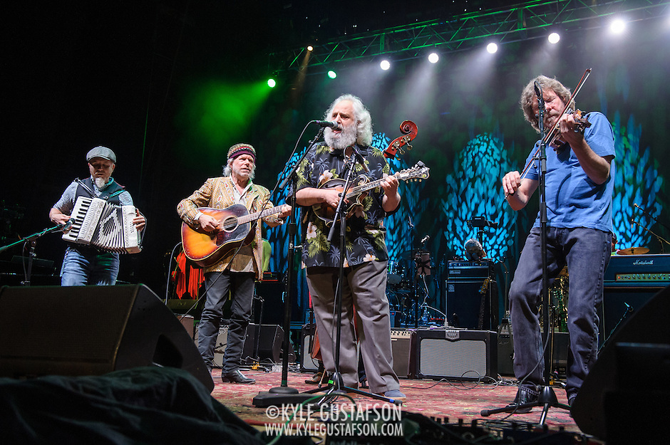 COLUMBIA, MD - May 14, 2015 - Matt Rollings, Buddy Miller, David Grisman and Audley Freed perform during the Dear Jerry: Celebrating the Music of Jerry Garcia concert at Merriweather Post Pavilion in Columbia, MD. (Photo by Kyle Gustafson / For The Washington Post) (Kyle Gustafson/For The Washington Post)