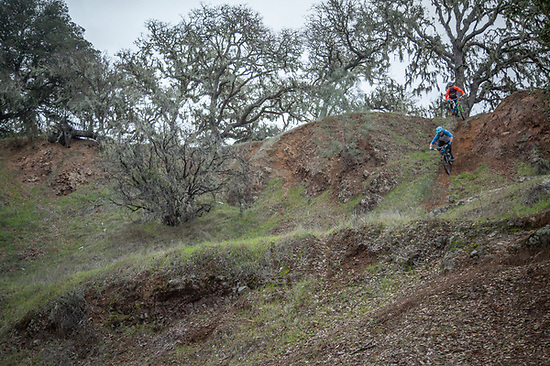 "Mountain Bikers Vincent Kimber and Bryan Vann on the Oat Hill Mine Trail, Calistoga, CA  ""Vincent is the crazy one...I'm just along for the ride.""  -Bryan Vann (Clark James Mishler)"