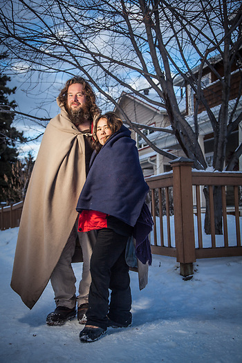 John and Margie Martin, advocates for homless and their survival gear, Anchorage (Clark James Mishler)