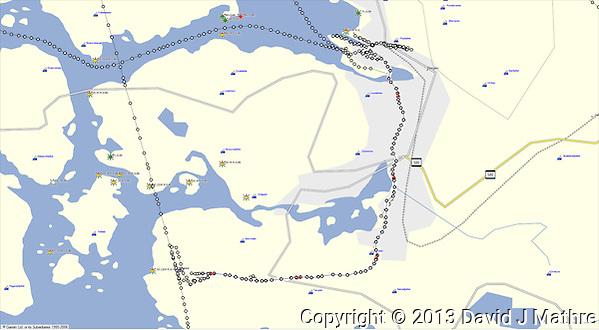 GPS Track: Bergen Airport to Thon Bristol Hotel in Bergen (11 miles) (David J Mathre)