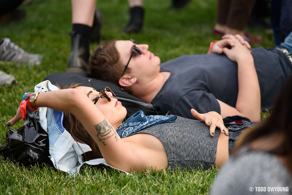 Atmosphere photographed at the Governors Ball Music Festival on Randalls Island in New York City on June 3, 2016 (Todd Owyoung)