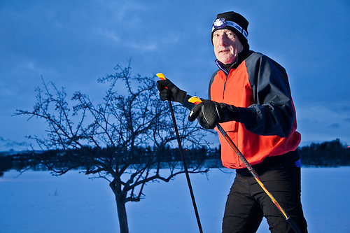 Attorney, Alex Bryner, cross country skiing near Westchester Lagoon, Anchorage (Clark James Mishler)