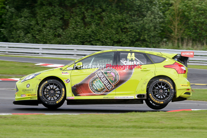#44 Jack Clarke (GBR) - Crabbie's Racing Ford Focus ST during the first BTCC raceat Oulton Park, Little Budworth, Cheshire, United Kingdom. June 08 2014. World Copyright Peter Taylor/PSP. Copy of publication required for printed pictures.  Every used picture is fee-liable. http://archive.petertaylor-photographic.co.uk (Peter Taylor/PSP)