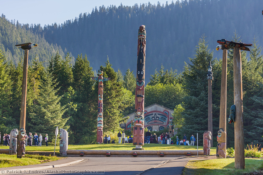 Saxman Village holds the largest collection of totem poles in the world, Ketchikan, Alaska. (Patrick J. Endres / AlaskaPhotoGraphics.com)