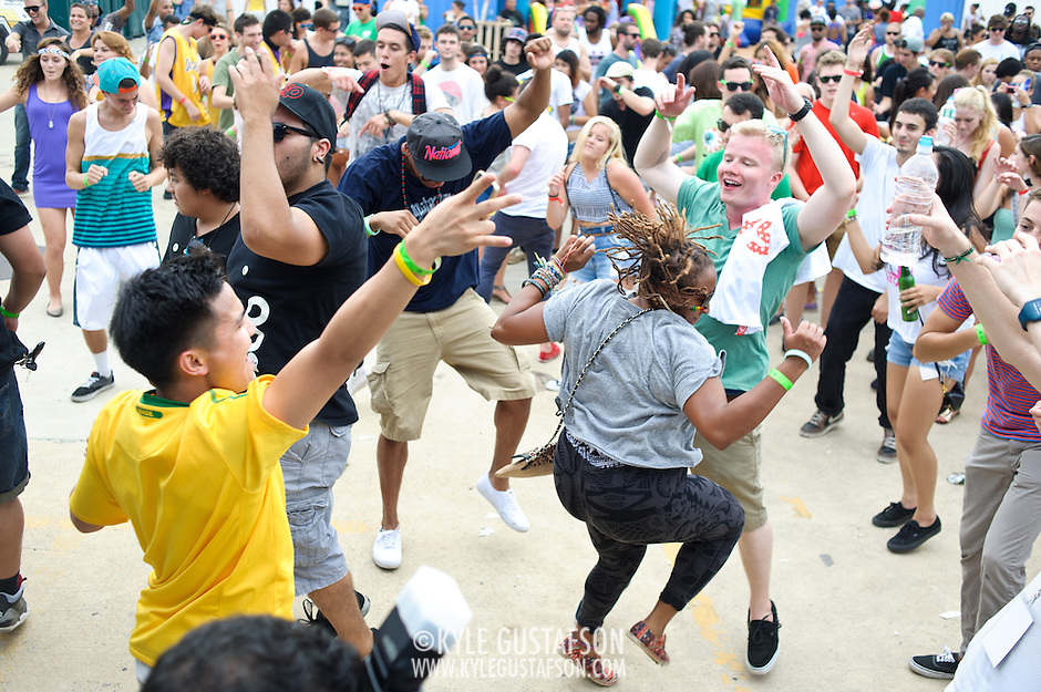 WASHINGTON, DC - August 11th, 2012 -  Crowd members dance during a performance by David Heartbreak at the  Trillectro Festival at the Half Street Fairgrounds in Washington, D.C. (Photo by Kyle Gustafson/For The Washington Post) (Kyle Gustafson/For The Washington Post)