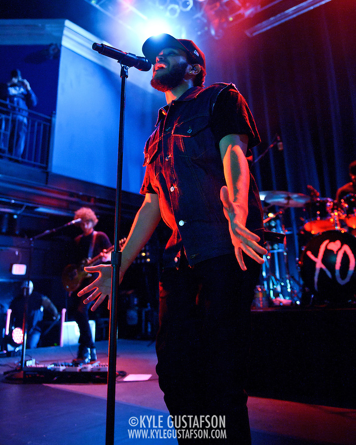 WASHINGTON, DC - April 26th, 2012 -  Canadian recording artist and record producer Abel Tesfaye, pka The Weeknd, performs at the 9:30 Club in Washington, D.C. Tesafaye has released three critically acclaimed mixtapes, including last year's House of Ballloons, which was nominated for the  2011 Polaris Music Prize. (Photo by Kyle Gustafson/For The Washington Post) (Kyle Gustafson/FTWP)