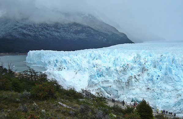 Side profile of Perito Moreno Glacier