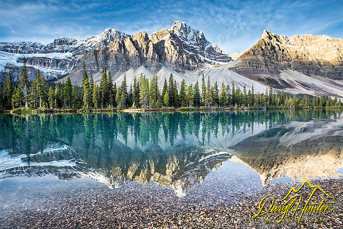 Bow Lake reflection, Banff National Park. A calm lake and sweet morning light come together here for my favorite photo I have taken in the Canadian Rockies (Daryl L. Hunter/© Daryl L. Hunter)