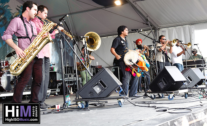 Red Baraat playing at Jazz Fest 2011 in New Orleans, LA on day 3. (Golden G. Richard III)