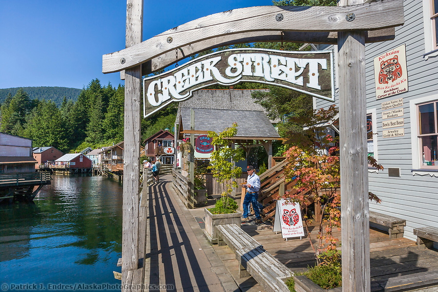 Famous Creek Street in downtown Ketchikan, southeast, Alaska. (Patrick J. Endres / AlaskaPhotoGraphics.com)