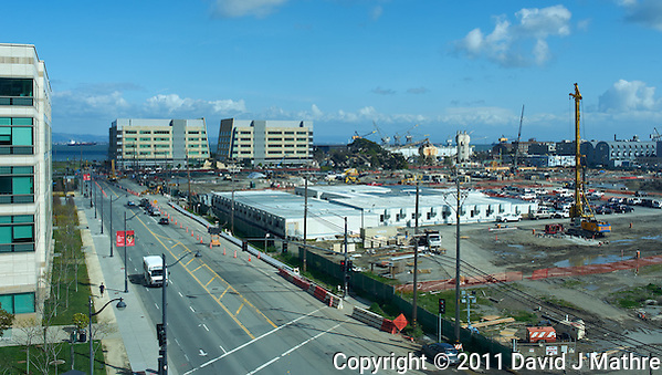 View of Hospital Construction Site Looking Toward San Francisco Bay. Image taken with a Leica X1 (ISO 100, 24 mm, f/11, 1/160 sec). (David J Mathre)