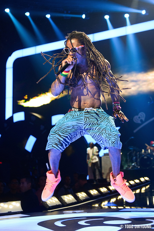 Rapper Lil Wayne performing at the iHeartRadio Music Festival in Las Vegas, Nevada on September 21, 2012. (Todd Owyoung)