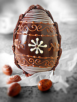 Traditional chocolate decorated Easter Eggs (Paul Randall Williams)