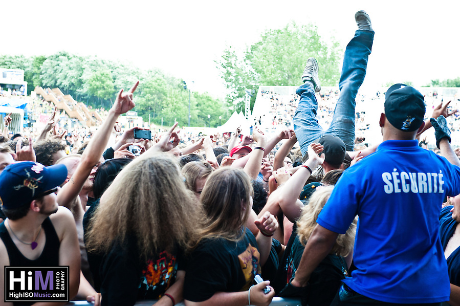 Suicide Silence performing at Heavy MTL 2011 in Montreal, QC. (Golden G. Richard III)