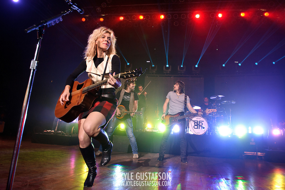 COLUMBIA, MD - October 16th, 2011: Kimberly Perry and her brothers Neil Perry and Reid Perry of The Band Perry perform at the 2011 Sunday In The Country festival at Merriweather Post Pavilion in Columbia, MD. The band's single &quot;If I Die Young&quot; reached number one on the Billboard Hot Country Songs chart.  (Photo by Kyle Gustafson/For The Washington Post) (Kyle Gustafson/FTWP)