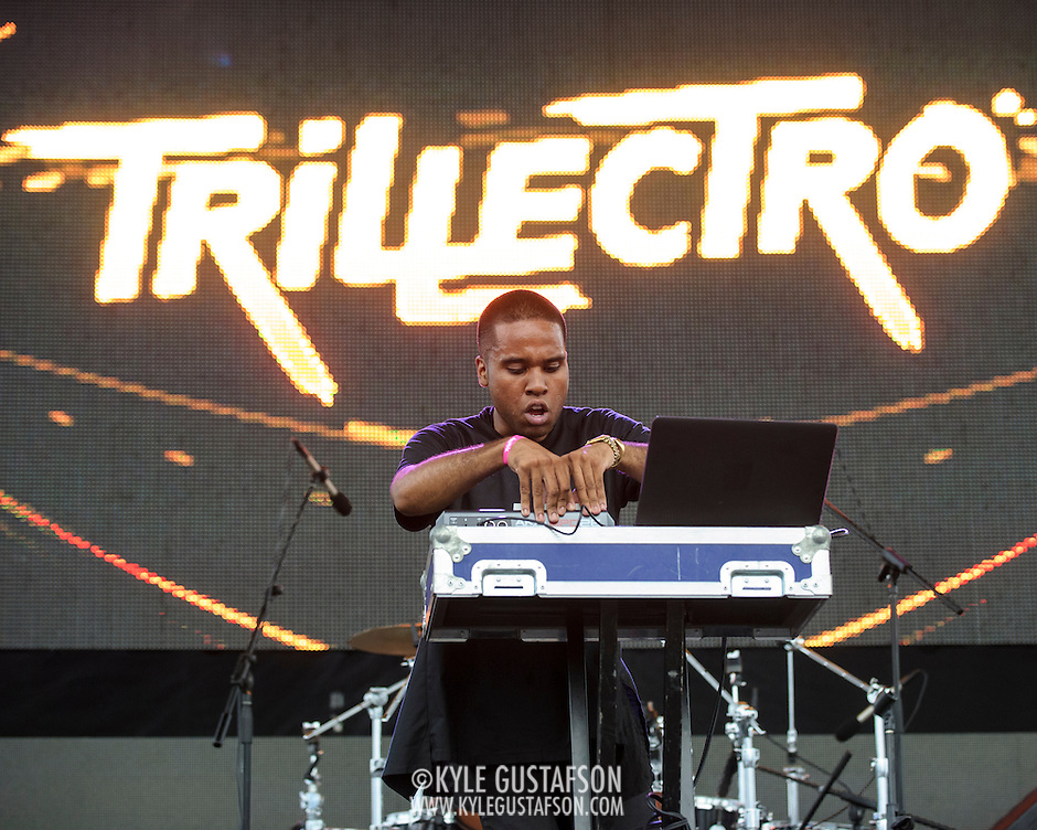 WASHINGTON, DC - August 23rd, 2014 - Canadian DJ Lunice performs at the 3rd annual Trillectro Music Festival at RFK Stadium in Washington, D.C. (Photo by Kyle Gustafson / For The Washington Post) (Kyle Gustafson/For The Washington Post)