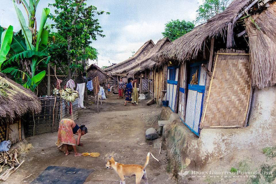 Nusa Tenggara, Lombok, Sade. Village life, Sasak style. (Photo Bjorn Grotting)