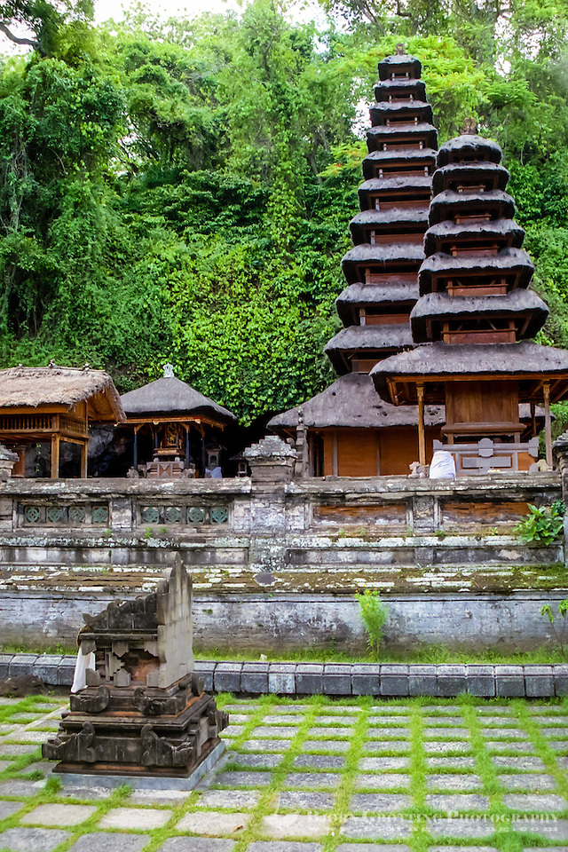 Bali, Klungkung, Goa Lawah. The bat cave. The entrance to the cave is behind these temple buildings. (Photo Bjorn Grotting)