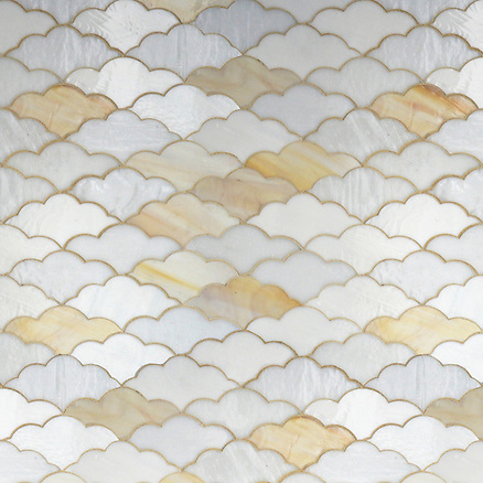 Erin Adams Clouds shown in Opal, Agate and Moonstone for New Ravenna Mosaics. (New Ravenna Mosaics 2012)