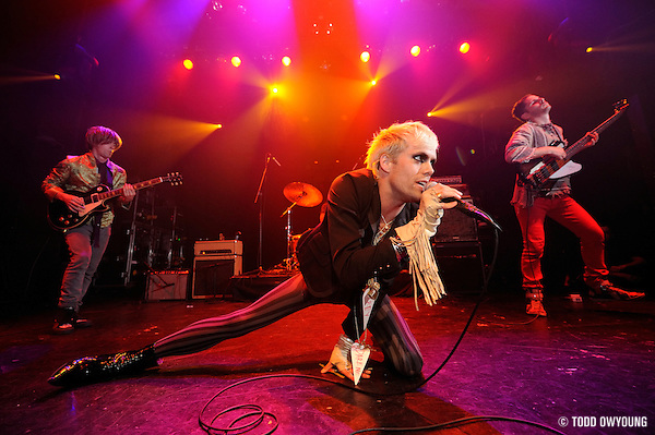 NYC-based rock band Semi Precious Weapons performing at the Gramercy Theater in New York City on March 27, 2009. (Todd Owyoung)