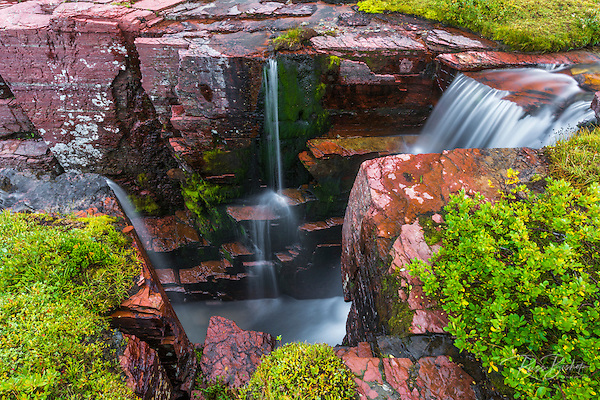 Triple Falls, Glacier National Park, Montana USA (© Russ Bishop/www.russbishop.com)