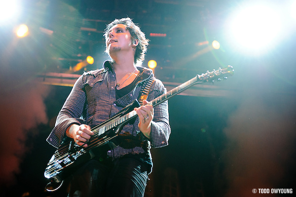 Photos of Avenged Sevenfold performing at Pointfest 27 on August 14, 2010 in St. Louis. (TODD OWYOUNG)