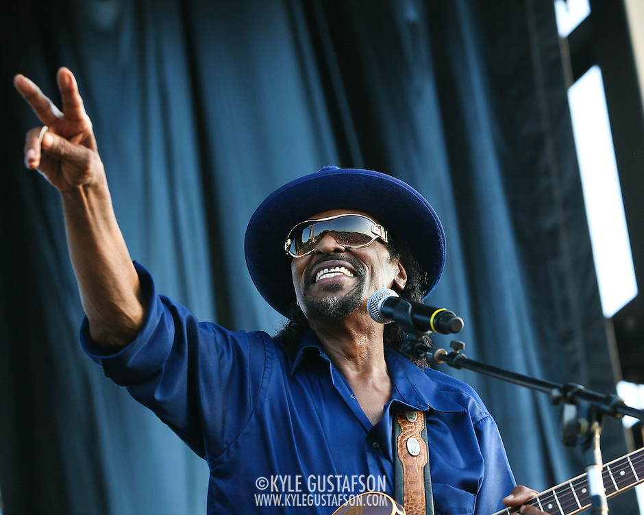"WASHINGTON, DC -  August 15th, 2009 -  ""Godfather of Go-Go"" Chuck Brown performs at the Stone Soul Picnic at RFK Stadium in Washington, D.C. (Photo by Kyle Gustafson) (Kyle Gustafson)"