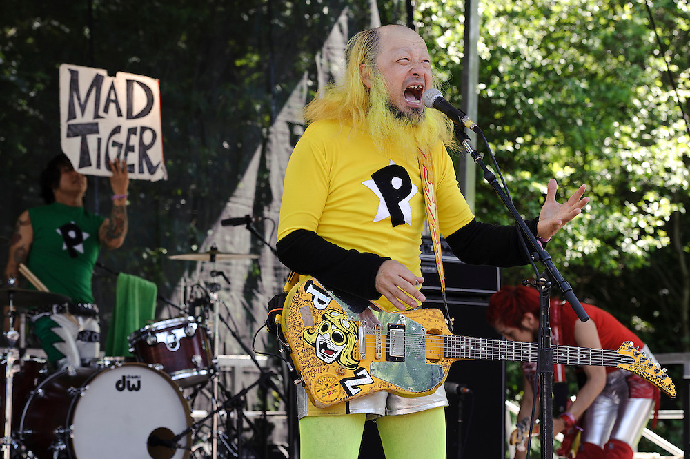 Photos of the band Peelander-Z performing at The Great GoogaMooga festival at Prospect Park in Brooklyn, NY. May 20, 2012. Copyright © 2012 Matthew Eisman. All Rights Reserved. (Photo by Matthew Eisman/WireImage)