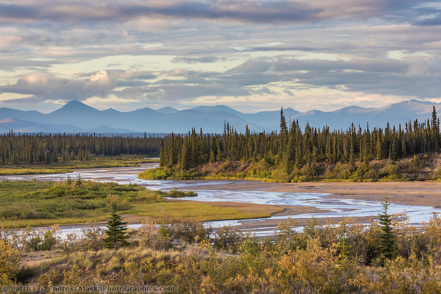 Ahnewetut Creek flows through the Great Sand Dunes in the Kobuk Valley National Park, Arctic, Alaska. (Patrick J Endres / AlaskaPhotoGraphics.com)