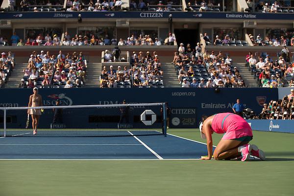 Peng Shuai, 2014 U.S. Open Women's Semifinal. Photographed at the Billie Jean King National Tennis Center in Queens, NY, USA 9/5/2014. © 2014 Darren Carroll (Darren Carroll/Sports Illustrated)