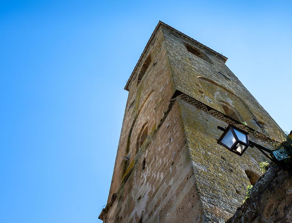 CIVITA DI BAGNOREGIO ITALY - CIRCA MAY 2015: Old tower in Civita di Bagnoregio (Daniel Korzeniewski)