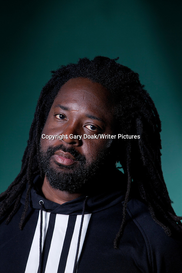 Marlon James, the Jamaican Man Booker Prize winner, at the Edinburgh International Book Festival 2015. Edinburgh, Scotland. 27th August 2015 Photograph by Gary Doak/Writer Pictures WORLD RIGHTS (Must Credit: Gary Doak/Writer Pictures)