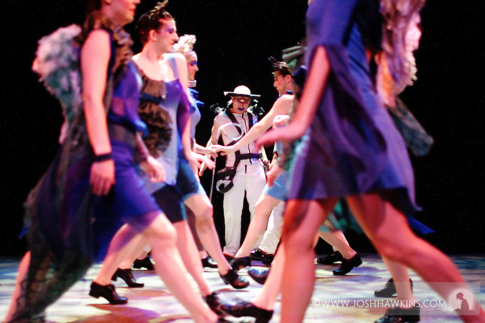 "Chicago Tap Theatre's production ""Changes"" - A science fiction tap dance opera featuring the music of David Bowie at Stage 773 in Chicago...Mark Yonally as ""Altego"" and ""The Alliance"" (Josh Hawkins)"