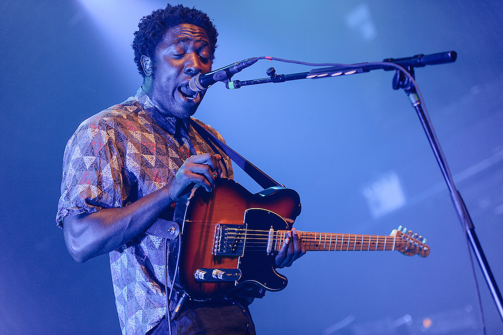 Photos of the British indie rock band Bloc Party performing at Terminal 5, NYC. August 7, 2012. Copyright © 2012 Matthew Eisman. All Rights Reserved. (Photo by Matthew Eisman/ WireImage)