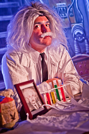 Eric Schultz as Einstein, ATIA Conference, Juneau, Alaksa (Clark James Mishler)