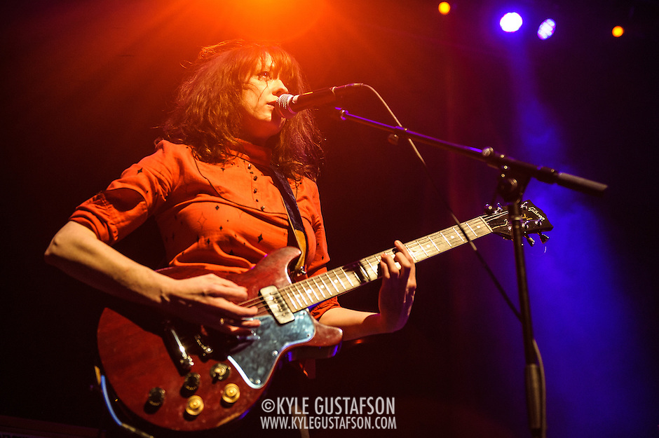 WASHINGTON, DC - December 10th, 2013 - Ex Hex, featuring Mary Timony, perform one of their first gigs opening for The Hives at the 9:30 Club. (photo by Kyle Gustafson / www.kylegustafson.com) (Photo by Kyle Gustafson)