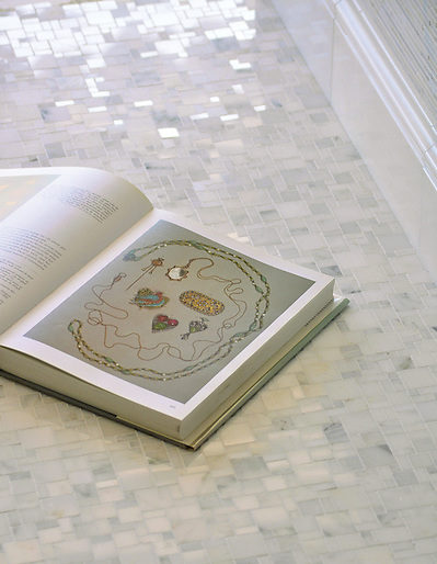 Mini-Versailles shown in Stauary Carrara polished (New Ravenna Mosaics)