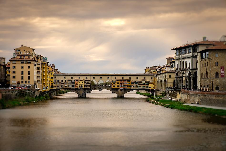 FLORENCE, ITALY - CIRCA MAY 2015:  Ponte Vecchio and Arno river in Florence, Italy. (Daniel Korzeniewski)