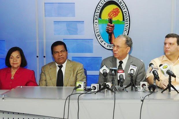 Los voceros de la CNO del PRD.