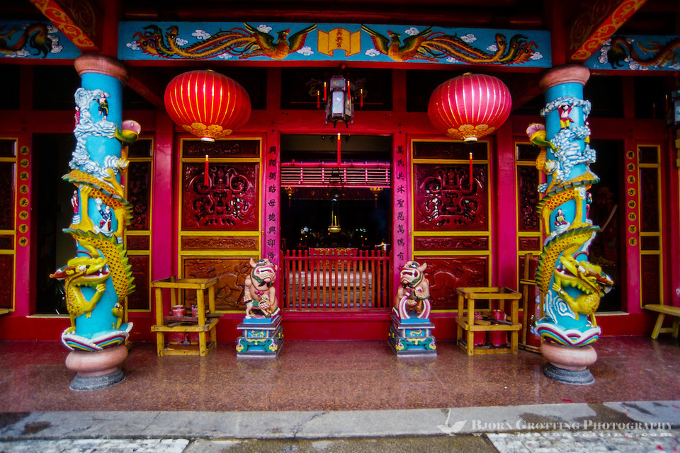 Indonesia, Sulawesi, Manado. Ban Hin Kiong Temple is a popular tourism spot in Manado's China Town. It is a 19th century Buddhist temple. (Photo Bjorn Grotting)
